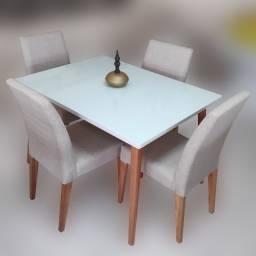 Sala de Jantar Locatelli 120x90cm com 4 cadeiras
