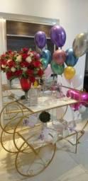 Carrinho+decoração +bolo grátis