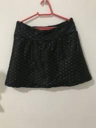 Short saia academia com etiqueta, tamanho 38/40, 25 reais