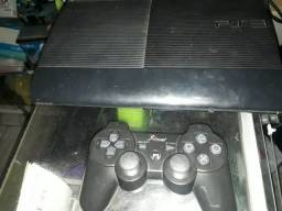 PS3 MODELO SLIM 5 JOGOS, TUDO OK.