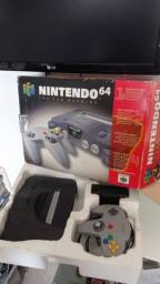 Nintendo 64 na caixa completo