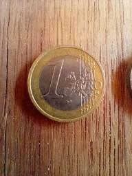 Moedas de One Euro 2x