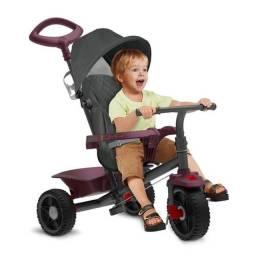 Triciclo De Passeio Smart - Reclinável - Vinho - Bandeirante
