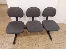 Cadeira tripla de espera para escritório