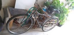 Bicicleta Caloi aço inox tipo barra forte