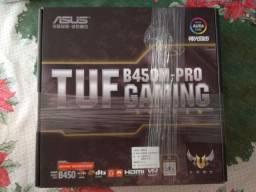 Asus TUF B450M Pro Gaming novo na caixa