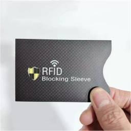 Capas para proteção de cartões anti-furto RFID