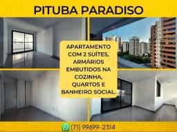 Apartamento na Pituba, Pituba Paradiso em 84m² com 2 vaga de garagem - Imperdível