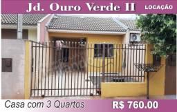 LOCAÇÃO; Casa com 3 quartos no Jd. Ouro Verde II em Sarandi