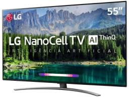 "Tv Lg 55"" 4K Hdr Ativo NanoCell Inteligência Artificial ThinQ AI Som Dolby Vision"