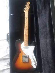 Guitarra Fender telecaster thinline 69 sunburst troca stratocaster