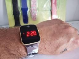 Relógio Led Masculino/Feminino Brinde 5 Pulseiras R$59,00