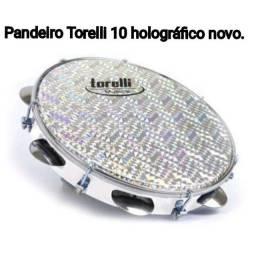 Pandeiro Torelli 10 pele holográfica, novo lacrado.