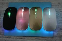 Mouse bluetooth rgb recarregável novos (na caixa)