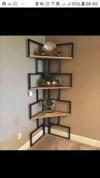 Prateleiras, estantes, mesas