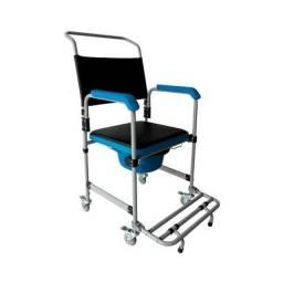 Cadeira de Banho Dobrável em Aço para 150 kg modelo D50 - Dellamed
