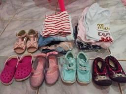 Roupas e calçados menina 2 anos