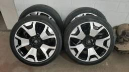 Rodas Aro 22 Originais Toyota com pneus