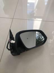 Espelho retrovisor cromado Hilux ano 2016 a 2018