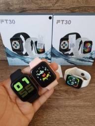 Smartwatch IWO FT30 PRO GPS Série 5 44mm, faz e recebe ligações e Troca pulseira