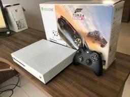 Xbox One S + NF + Jogo + Controle + Caixa
