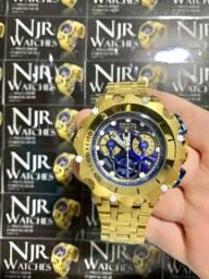 Relógio invicta new hybrid azul lacrado top