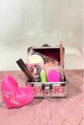 Mini maleta de maquiagem
