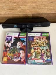 Kinect Xbox 360 com dois jogos