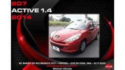 Peugeot 207 Active 1.4 2014 -Único dono