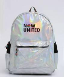Mochila Infantil Escolar Holográfica Now United Clio