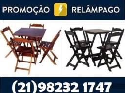 Título do anúncio: Conjunto de Mesas e Cadeiras Dobráveis - mesa 70x70cm - com 2 ou 4 cadeiras