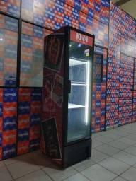 Geladeira expositora slim metal frio (personalizado do cliente)