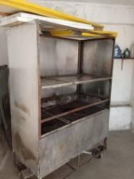 Maquina de frango e churrasco a carvão