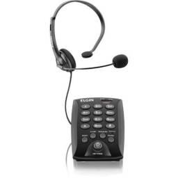 Aparelho telefônico (com fio) Headset Hst-6000 C Flash Preto Elgin