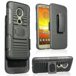 capa tática anti impacto Motorola com Suporte entrega gratuita comprar usado  Praia Grande