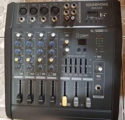Mesa de som profissional (usada apenas 1 vez)