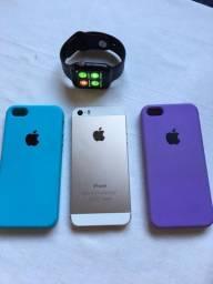Troco iPhone 5s e relógio smartwotch por iPhone 6s