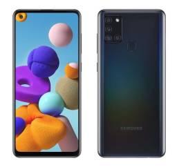 Samsung Galaxy A21S - 64gb - Preto - Nota Fiscal - Novo na caixa lacrada