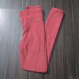 Calça de cintura alta, número 36