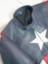 Jaqueta de couro Capitão América