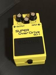 Pedal Guitarra Boss Sd1 Super Overdrive Na Caixa Com Fonte