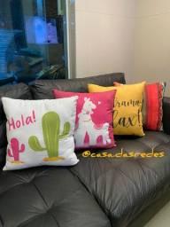 Almofadas para sofá e cama entrega grátis