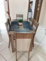 Conjunto de sala de jantar com 06 cadeira