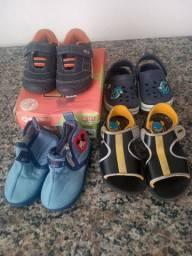 3 Lotes calçados para menino, vendo lote separado tambem