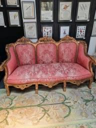 Sofá Namoradeira Luis XV Dourado