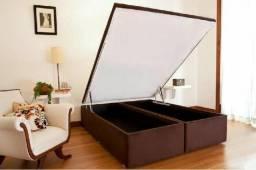 ::: Box Bau Queen Size 158x198 A pronta Entrega Melhor Preço Confira