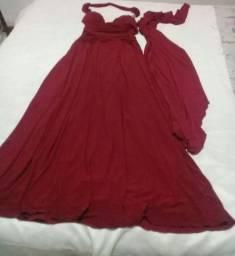 Troco vestido longo por capa de almofadas