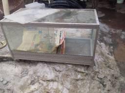 Estufa em vidro para exposição de salgados