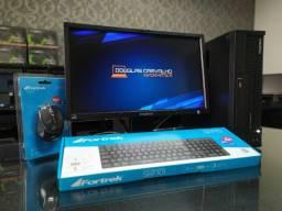 "Kit PC i5 4GB 500GB + Monitor 18,5"" + Teclado e Mouse - NF e Garantia de 6 Meses"