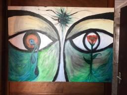 Pintura em acrilico